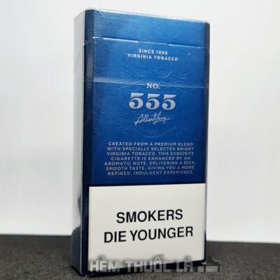 thuốc lá 555 signature ba so xanh dai